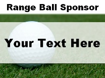 Range Ball Sponsor Ball in Grass