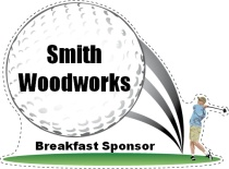 Breakfast Sponsor Golf Swing Shaped Sign