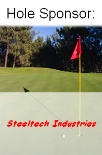 Step Stakes with Golf Flag in Close