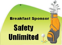 Breakfast Sponsor Golf Bag Shaped
