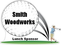 Lunch Sponsor Golf Swing Shaped Sign
